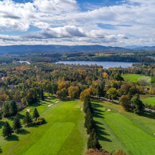 Arial view of the golf course at our Lenox, MA Resort