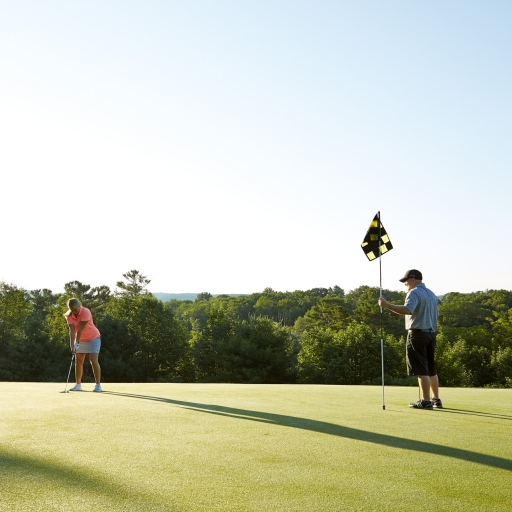 Guest having a private golf lesson at Wyndhurst Manor & Club in Lenox, MA